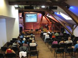 Our meetings were held in the large chapel in the upper level of the castle.