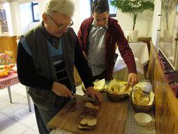 Preparing the toast